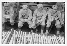 [Babe Ruth, Bill Carrigan, Jack Barry, & Vean Gregg, Boston AL (baseball)]  (LOC) by The Library of Congress, via Flickr