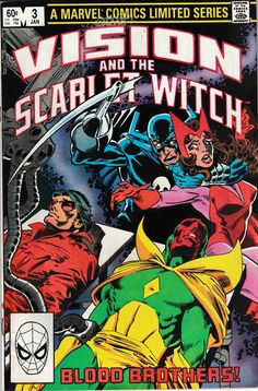 Vision and the Scarlet Witch Blood Brothers Marvel Comics 1983 VF/NM The Avengers, Avengers Comics, Marvel Comics Art, Marvel Comic Books, Comic Book Heroes, Marvel Characters, Comic Books Art, Avengers Images, Book Art