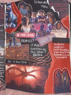 Bullet Journal Lettering Ideas, Bullet Journal Writing, Bullet Journal Ideas Pages, Journal Pages, Journals, Collage Book, Book Art, Stranger Things, Memory Journal
