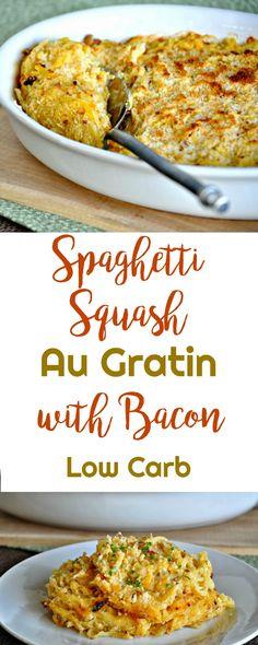 Spaghetti Squash Au Gratin with Bacon