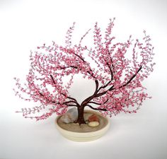 Cherry Blossom Bonsai - Beaded Bonsai tree