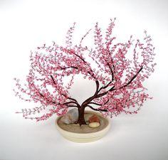 Cherry Blossom Bonsai - Beaded Bonsai tree
