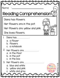 Free Reading Comprehension is suitable for Kindergarten students or beginning readers. There are 15 color and 15 black & white pages of reading comprehension worksheets. Each page contains 3 to 4 sentences passage, a related picture, and 3 multiple choice First Grade Reading Comprehension, Reading Comprehension Worksheets, Reading Fluency, Reading Passages, Teaching Reading, Grade 1 Reading, Comprehension Questions, Reading Skills, Worksheets Preschool