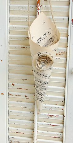 Wedding Pew Marker Sheet Music Cones Paper with by roseflower48, $24.00