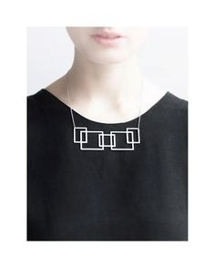 geometric stainless steel necklace /im/ by AnnaLawskaJewellery Women's minimalist fashion accessories jewelry
