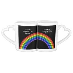 The Other Half Of My Rainbow Couple Mugs .. gay pride products from #Ricaso
