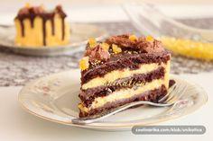 Recepti za top jela i poslastice: Orange-mousse torta Torte Recepti, Kolaci I Torte, Frosting Recipes, Cake Recipes, Dessert Recipes, Fun Desserts, Delicious Desserts, Orange Mousse, Torta Recipe