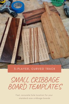 Fast, accurate hole location for your standard-size cribbage boards—includes an self-centering drill bit for clean, precise peg holes! Must Have Woodworking Tools, Woodworking Skills, Woodworking Projects, Woodworking Furniture, Woodworking Plans, Projects For Kids, Wood Projects, Craft Projects, Craft Ideas