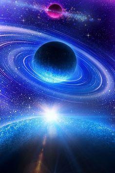 Saturn in Blue