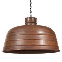 Lampada a sospensione in metallo effetto ruggine D 50 cm MADEN