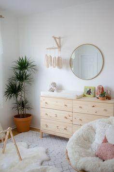 DIY boho tassel mobile for gender neutral minimalist nursery