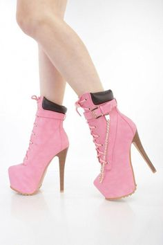 Outfits Mode für Frauen 2019 - Timberland High Heel Boots, High Heel Timberland Boots for Women Timberland Outfits, Timberland High Heels, Timberland Boots Style, Timberland Waterproof Boots, Timberland Fashion, Yellow Boots, Pink Boots, Sexy Boots, Thigh High Boots