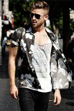 Summer 2015 (me) summer 2016 (you). Men want to have fun with summer fashion but are still too homophobic to try. That print on the T-shirt ruins this though...