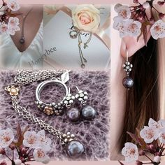 Pandora earrings, ring, necklace