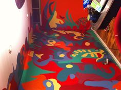 Colors and more colors Doodle Wall, My Doodle, Wall Murals, Doodles, Colors, Painting, Art, Painting Art, Scribble
