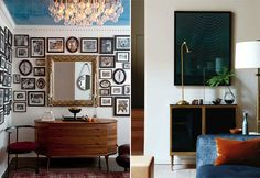 The wall of framed pictures: I want.