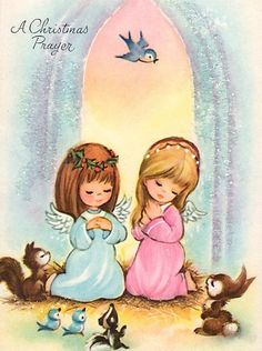 Vintage Angel Christmas Card