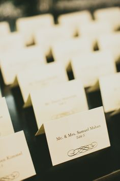Placecards are Set for the Guests - Henry + Mac Photography #aldencastle #modernvintage #weddings