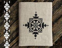 Embroidered  sleeve  for iPad - iPad Air -  Samsung Galaxy Tab 10.1 - Geometric - Tribal