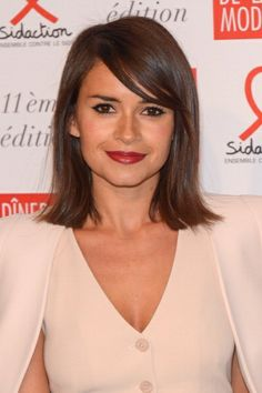 Miroslava Duma hair with bangs