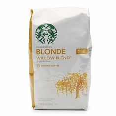 Starbucks Coffee Blonde Roast, Willow Blend, Ground, 12 oz (Misc.) http://www.amazon.com/dp/B00743W50O/?tag=pindemons-20 B00743W50O