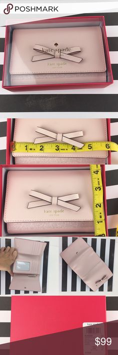Kate Spade Sawyer Street Callie Ballet Slippers JUST ARRIVED!  BRAND NEW FOR HOLIDAY 2016! Kate Spade ♠️Wallet / Clutch - Tri-Fold  👛 . Color: Ballet Slippers  CONDITION: New in box Arrives on card inside KSNY box.  ❌Trades❌ ⚡️We ship lightening fast⚡️ 🎀Discounts with bundles 🎀 kate spade Bags Clutches & Wristlets