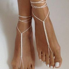 crochet ivory barefoot sandals, wedding jewelry, beige bridal accessory, fashion gift, wedding gift Source by grewertim wear for women Bridal Accessories, Women Accessories, Fashion Accessories, Fashion Jewelry, Fashion Sandals, Ivory Sandals, Bare Foot Sandals, Shoes Sandals, Women Sandals