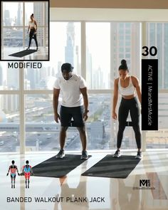 Fitness Workouts, Full Body Hiit Workout, Band Workouts, Hiit Workout At Home, Gym Workout Videos, Fitness Workout For Women, Body Fitness, At Home Workouts, Fitness Band