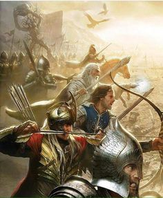 Lord of the Rings fanart Aragorn, Legolas, Thranduil, Gandalf, Jrr Tolkien, Fellowship Of The Ring, Lord Of The Rings, Fanart, Tattoo Guerreiro