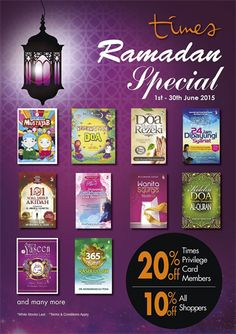 1-30 Jun 2015: Times Book Stores Ramadhan Special Promotion
