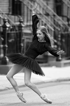 Joffrey Ballet School Sexy Ballerina Poses on Gay Street New York City Tutulicious!   by Christopher Peterson