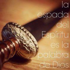 Efesios 6:17 Y tomad el yelmo de la salvación, y la espada del Espíritu, que es la palabra de Dios; ♔
