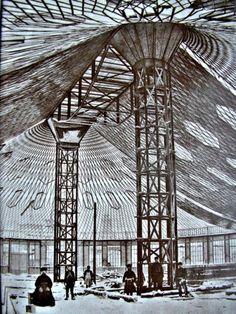 Oval Pavilion, the world's first steel tensile structure by Vladimir Shukhov. Nizhny, Novgorod, Russia.