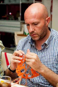 Reunión 41ª del Grupo de Crochet y Punto Alhambra Knits. Con la labor