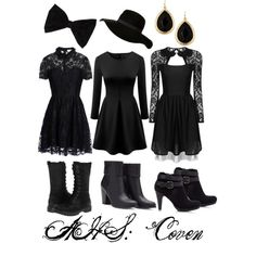 Kim, Paige, & Cayley's AHS: Coven outfits!
