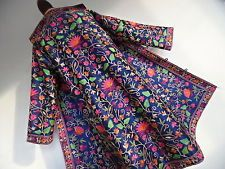 . MY STUNNING COAT . Amazing Silk Embroidery Embroidered Coat Hippy Ethnic S M