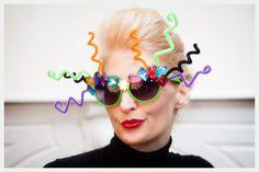 DIY Funky Party Sunglasses! Sooooo making these for Mardi Gras + adding a few sparkling LED lights OF course: http://www.flashingblinkylights.com/blinkiesroundleds-c-114_61_1.html?osCsid=b1i0bqj8u8gq84u9it1t19euv5