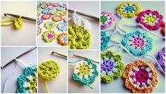 Rengarenk Örgü Çiçek Motifi Anlatımlı - El Sanatları ve Hobi Sitesi - El Sanatları ve Hobi Sitesi
