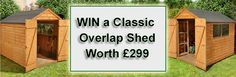 "COMPETITION TIME! For the chance to win a shed worth £299, simply ""follow"" and ""pin"" this and you will be instantly entered into the competition. Also, to increase your chances of winning, follow us and share this competition. on Twitter - https://twitter.com/The_Shedstore on Google+ - https://plus.google.com/u/0/101591285216755780946/posts on Facebook - https://www.facebook.com/shedstore  Good Luck!"