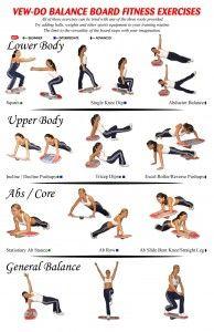 Balance board fitness exercises