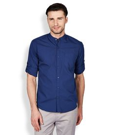 Highlander Blue Slim Fit Casual Shirt - http://weddingcollections.co.in/product/highlander-blue-slim-fit-casual-shirt/