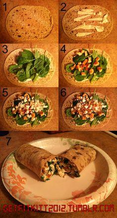 Spinach Feta Chicken Wrap!