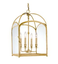 Hudson Valley 6484-Agb Oxford 4 Light Pendant In Aged Brass