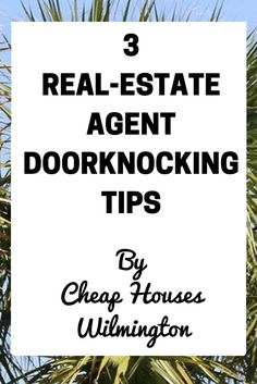 Real-estate agent door knocking