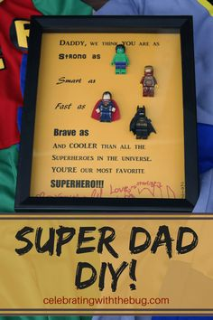 Superhero DIY: The Perfect Gift for Dad!