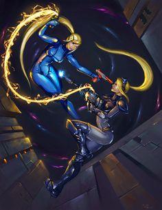 Samus Vs Nova by teriopi on DeviantArt Metroid Samus, Metroid Prime, Samus Aran, Adventure Games For Kids, Space Warriors, Zero Suit Samus, Super Metroid, Nintendo Sega, Video Game Characters
