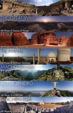 "On July 7, 2007, an organization announced a ""new"" set of the Seven Wonders of the World based on online voting from around the world...  Chichen Itza, Mexico - Mayan City  Christ Redeemer, Brazil - Large Statue The Great Wall, China Machu Picchu, Peru, Petra, Jordan - Ancient City, The Roman Colosseum, Italy, The Taj Mahal, India"