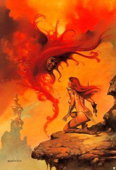 Scarlet Menace by Boris Vallejo