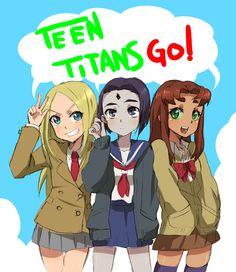 Teen Titans: Terra, Raven, Starfire