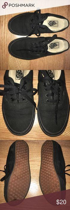 Black vans skate shoes Barely worn black vans shoes Vans Shoes Sneakers